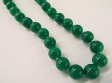 14k Hand Knotted Chinese Jade Necklace