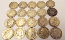 20 Pre-1964 Silver Dimes ($2 Face)