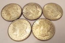 1921 Morgan Dollars (5-p) Fine