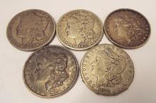 1878 Morgan Dollars (2-p) 1879 (2-p, 1-s)
