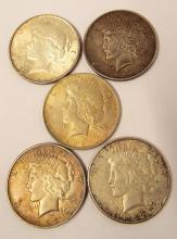 1922 Peace Dollars (p-3, D-1, S-1)