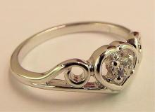 Sterling Silver Ring With White Stone
