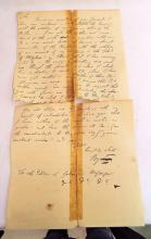 18th Century Lord Byron Hand Written Letter