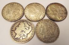 1900 Morgan Dollars (1-o) 1901 (2-o) 1902 (1-o)