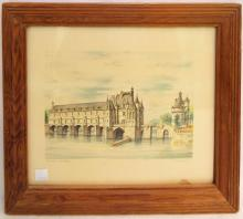 Colored Etching, Chateau