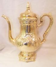 International Sterling Silver Hand Chased Tea Set