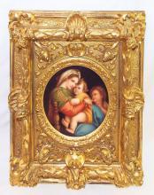 Raphael Sanzio Da Urbino Porcelain Plaque