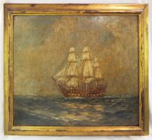 Carlton T. Chapman Oil On Board Of Sailboat