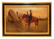Confederate Civil War Soldier Painting Circa 1865