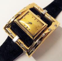 18k Gold 1960s Gold And Diamond Wrist Watch