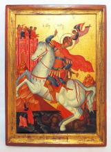 Icon St. George And The Dragon