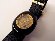 French Boucheron 18k Gold Watch With Diamond Face