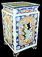 Oriental porcelain decorated pedestal