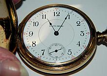 South Bend pocket watch with fob