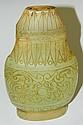 Oriental jade carved urn with fudog design