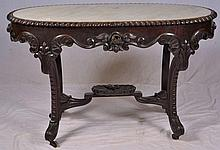 Victorian marble top Rosewood center table