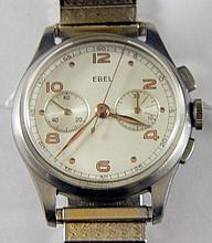 Rare men's Ebel stainless steel chronograph