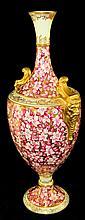 Fine signed Coalport porcelain vase