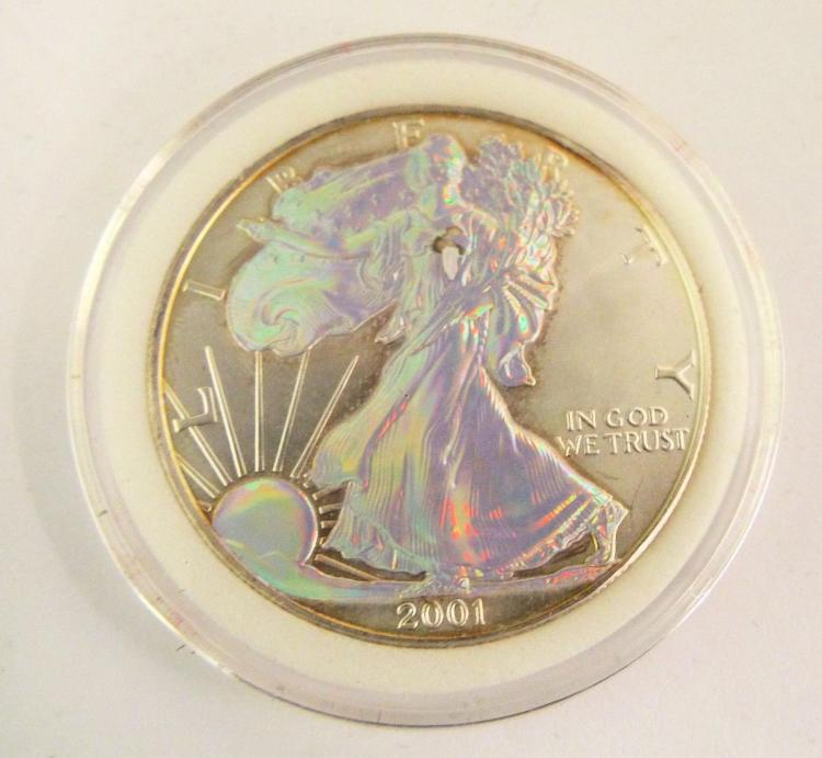 2001 United States 1 Oz Fine Silver One Dollar