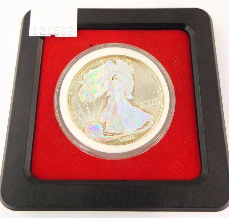 2001 United States 1 Oz Fine Silver One Dollar
