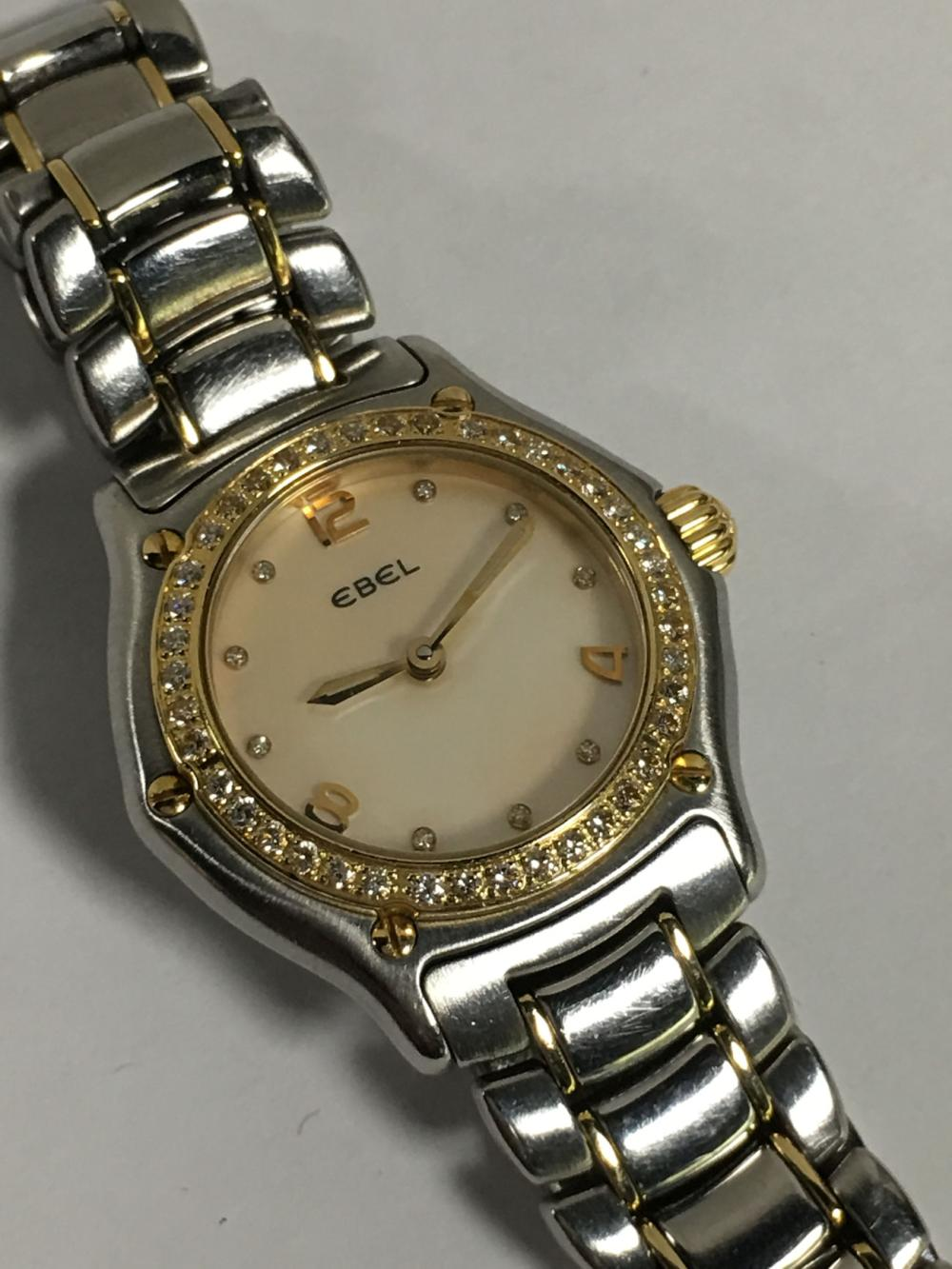 Ebel 18k Gold, Diamond & Stainless Steel Watch