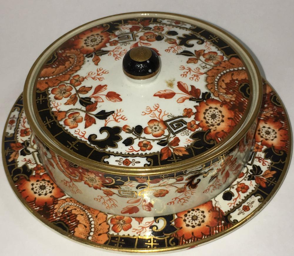 English F & R Pratt Polychrome Decorated Dish