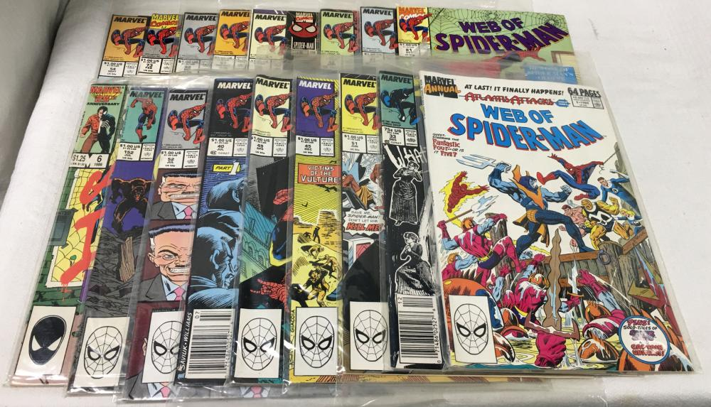 18 Comic Books, Marvel Spider - Man