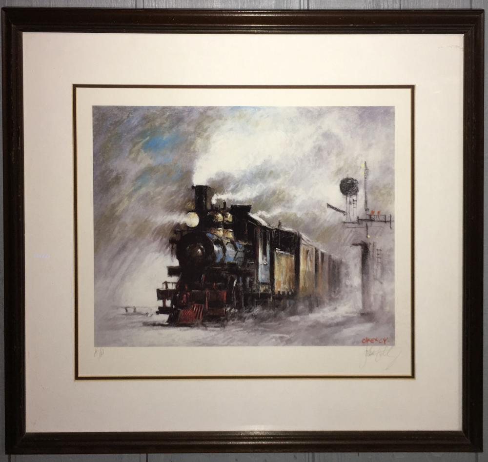 Signed Kelly Artist Proof Print, The Train