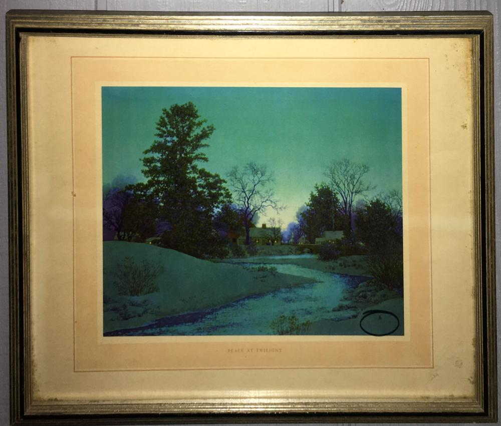 Maxfield Parrish Print, Peace At Twilight