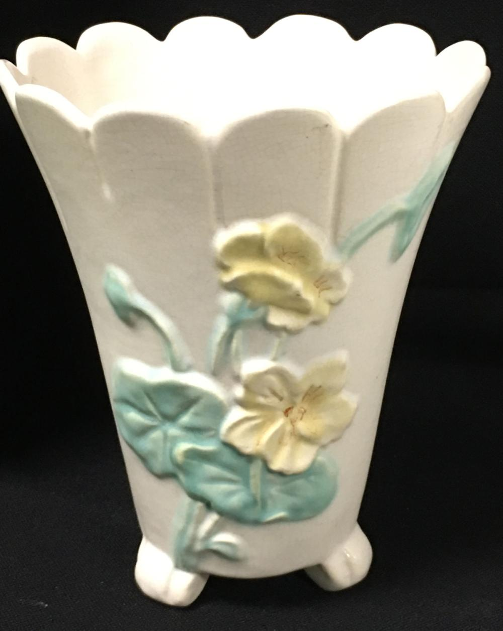 Art Pottery Footed Vase