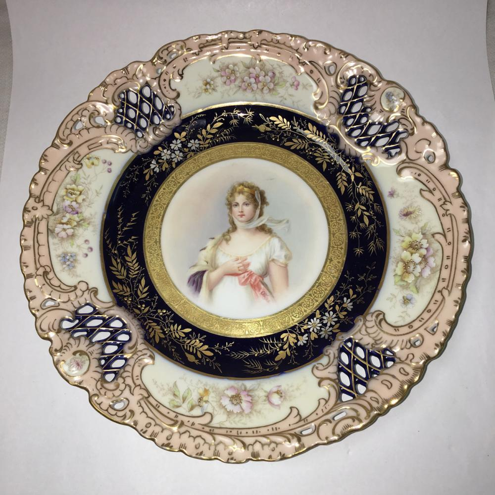 Konigin Louise Germany Porcelain Portrait Plate
