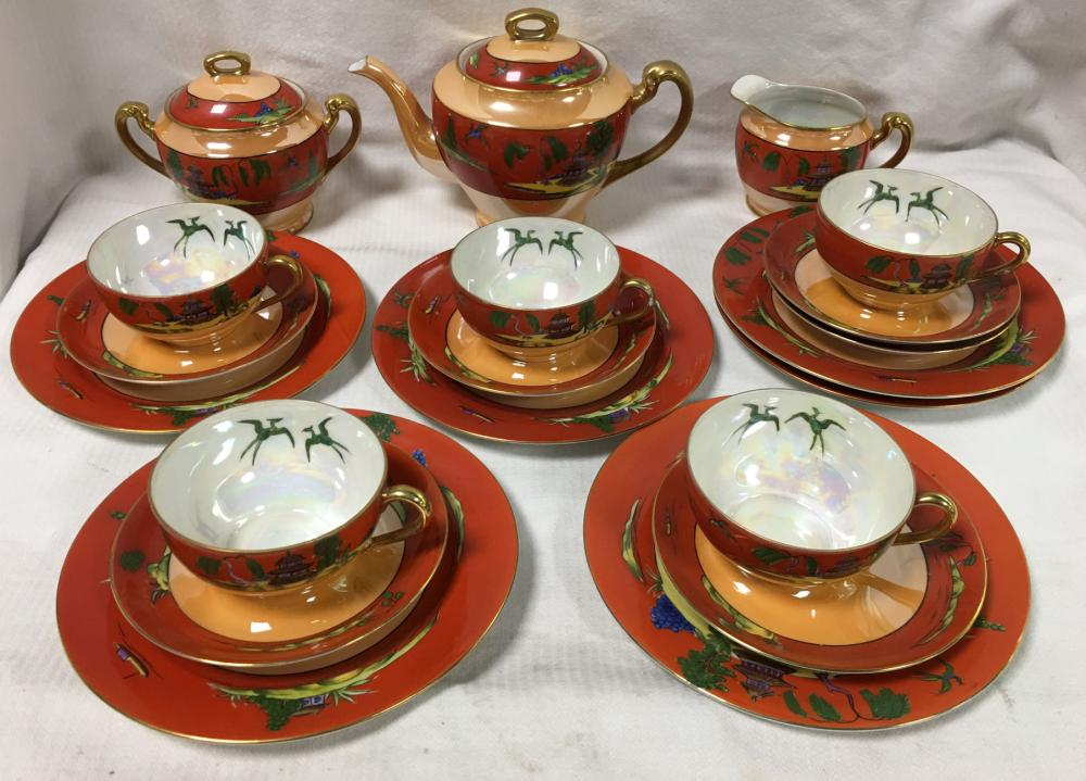Noritake Hand Painted Porcelain Tea Set