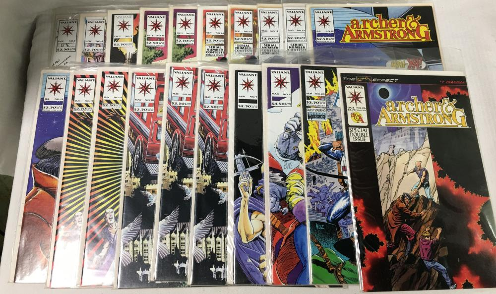 22 Comic Books, Valiant Archer & Armstrong