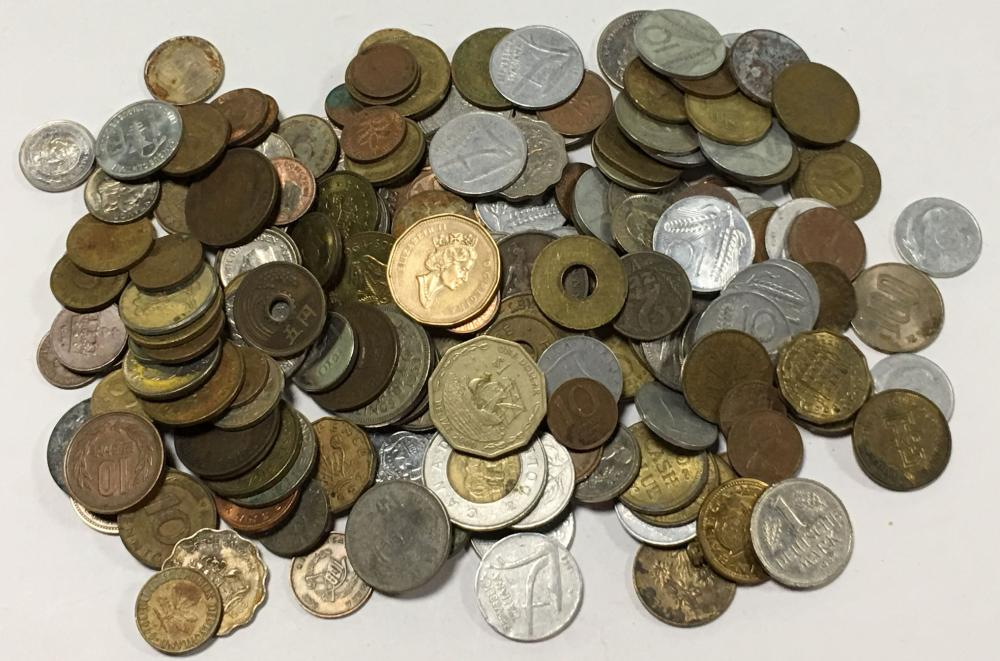 Large Group Of Foreign Coins & Misc.