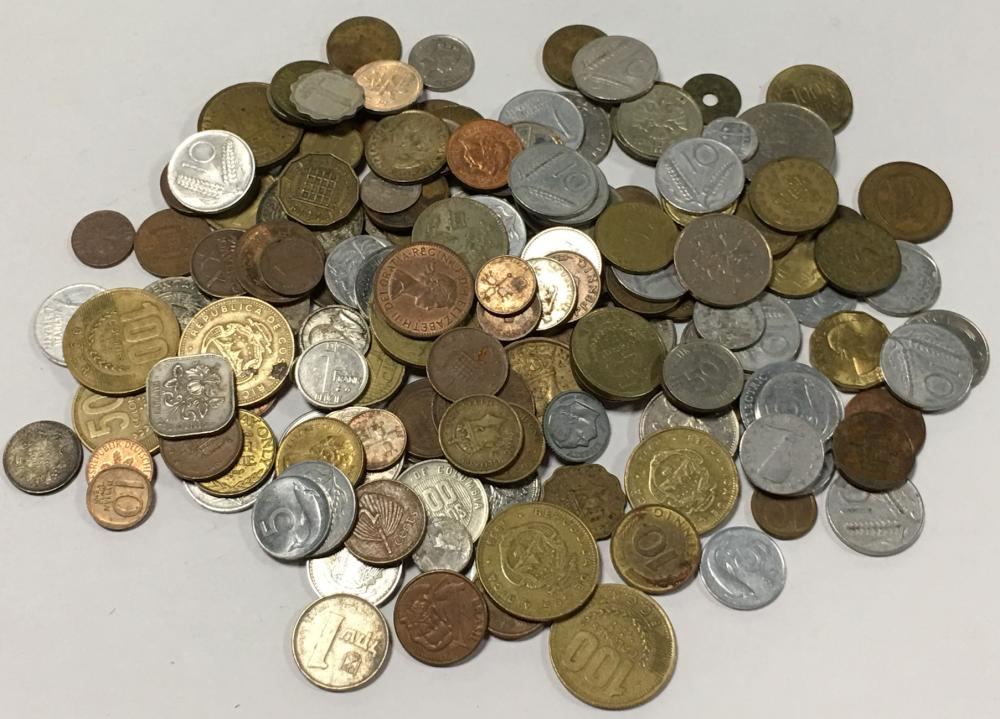 Large Group Of Foreign Coins