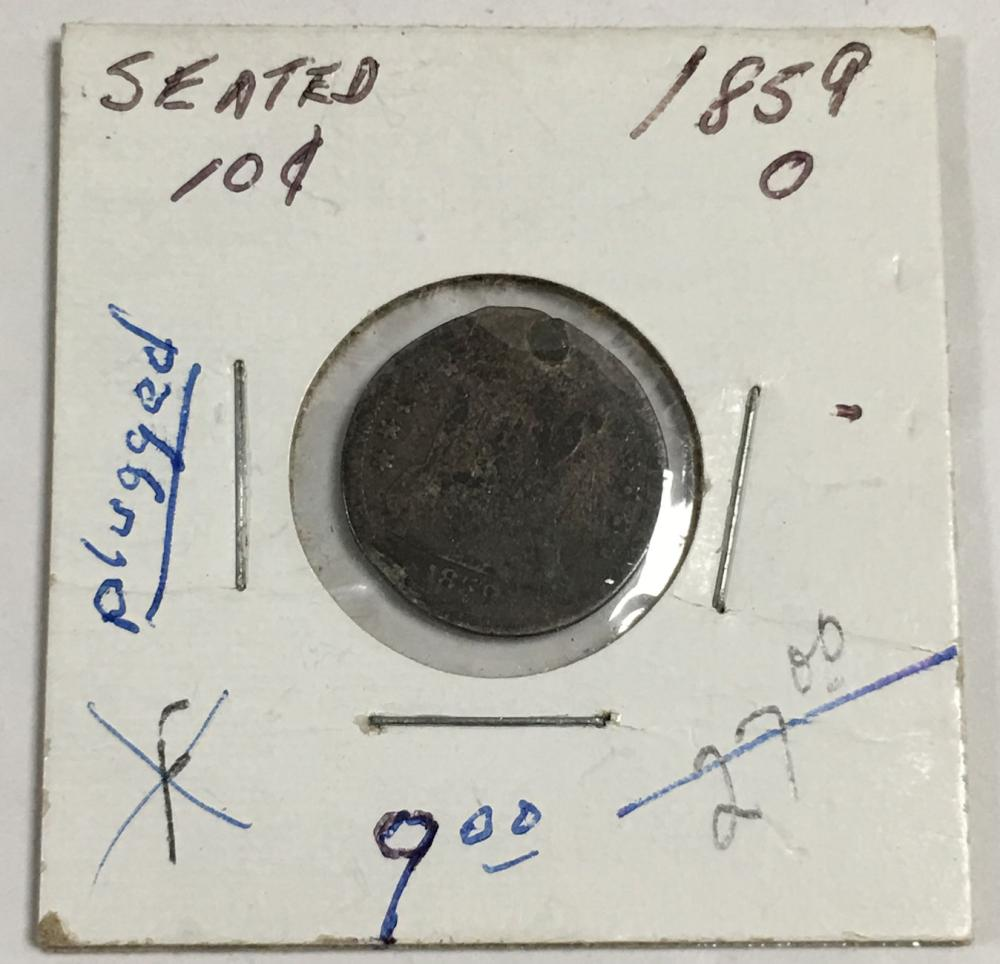 1859 Silver Seated Liberty Dime