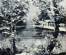 Morris Katz Oil on Board Landscape
