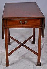 19th c. One Drawer Drop Leaf Side Table