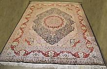Oriental silk hand made rug