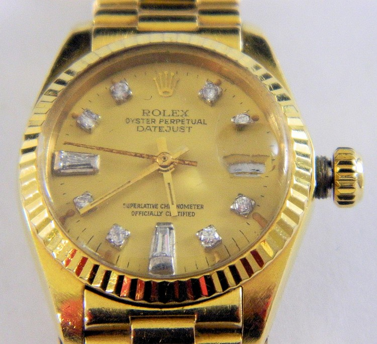 Rolex Oyster Perpetual Wrist Watch, 18k Gold