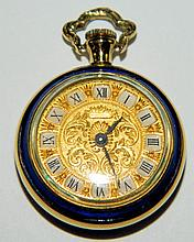 18K Gold Ladies Pocket Watch