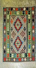 Hand Woven Rug with Geometric Design