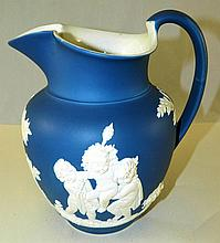 Blue Wedgwood Pitcher