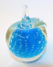 Art Glass Apple Paper Weight