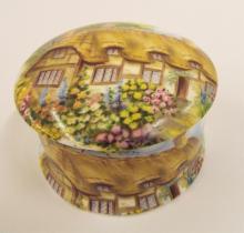 Staffordshire Newhall Bone China Picture Box