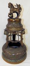 Oriental Cloisonne Figural Incense Burner