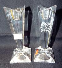 Pair Of Rosenthal Crystal Candle Sticks