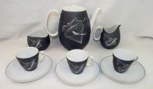 Johann Haviland Bavaria Tea Set, Papageno