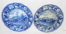Pair Of Wardour Castle Wiltshire Burslem Plates