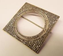 Sterling Silver And Marcasite Pin